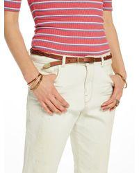 Scotch & Soda - Brown Braided Leather Belt - Lyst