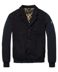 Scotch & Soda - Blue Refined Bomber Jacket for Men - Lyst
