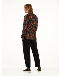 Scotch & Soda - Multicolor Collarless Shirt With Embroidery Slim Fit for Men - Lyst