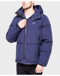 Lacoste | Blue Padded Jacket for Men | Lyst