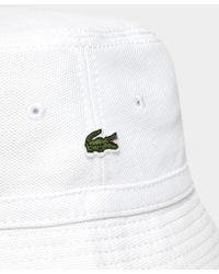 Lacoste   White Pique Bucket Hat for Men   Lyst