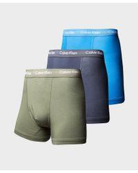 Calvin Klein - Blue 3 Pack Boxer Shorts for Men - Lyst