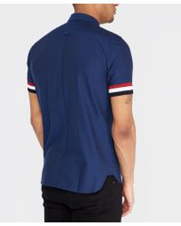 Fred Perry - Blue Striped Cuff Shirt for Men - Lyst