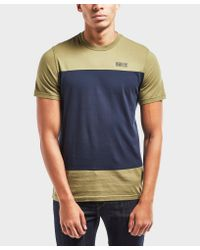 Barbour - Blue International Panel Short Sleeve T-shirt for Men - Lyst