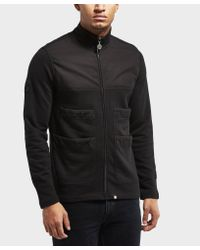Pretty Green - Black Newcroft Zip Up Sweatshirt for Men - Lyst