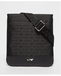 Armani Jeans - Black Small Nylon Bag for Men - Lyst
