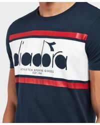 Diadora - Blue Spectra Short Sleeve T-shirt - Online Exclusive for Men - Lyst