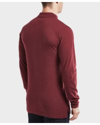 Tommy Hilfiger - Red Long Sleeve Polo Shirt for Men - Lyst