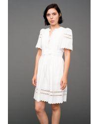 Sea | White Short Sleeve Pleated Dress | Lyst