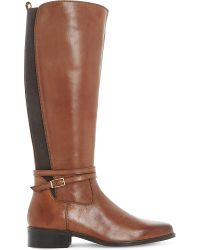 Dune | Brown Taro Leather Knee-high Boots | Lyst