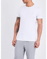 DIESEL | White Jake Pack Of Three Cotton-jersey T-shirts for Men | Lyst