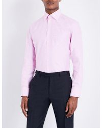 Thomas Pink | Pink Strummer Texture Slim-fit Cotton Shirt for Men | Lyst