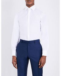 Thomas Pink | White Dowson Plain Slim-fit Cotton Shirt for Men | Lyst