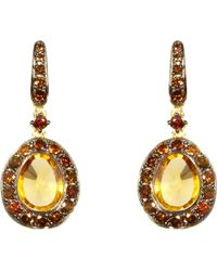 Annoushka - Dusty Diamonds Citrine And 18ct Yellow-gold Drop Earrings - Lyst