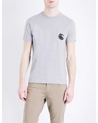 C P Company | Gray Logo-print Cotton-jersey T-shirt for Men | Lyst