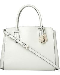 L.K.Bennett - White Catrina Leather Tote Bag - Lyst