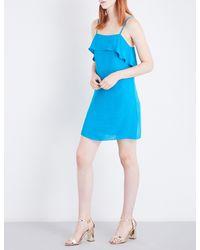 Alice + Olivia - Blue Etta Crepe Dress - Lyst