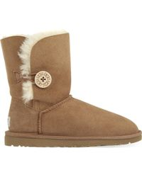 Ugg | Brown Bailey Button Sheepskin Boots | Lyst