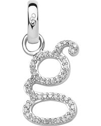 Links of London - Metallic Alphabet G Sterling Silver And Diamond Charm - Lyst
