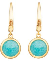Astley Clarke - Metallic Stilla 18ct Gold-plated Amazonite Earrings - Lyst