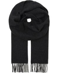 Vivienne Westwood - Black Embroidered Logo Wool Scarf for Men - Lyst
