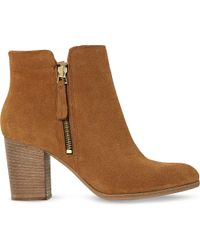 Dune Black | Brown Phollie Double-zip Suede Ankle Boots | Lyst