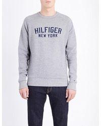Tommy Hilfiger | Gray Allen Brand Logo Cotton-blend Sweatshirt for Men | Lyst