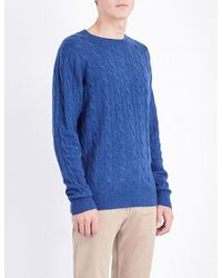 Tommy Hilfiger | Blue Crewneck Wool-blend Jumper for Men | Lyst