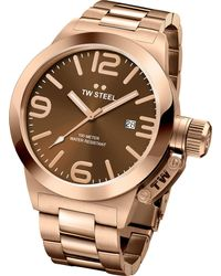 TW Steel - Metallic Cb191 Canteen Rose Gold Pvd-plated Stainless Steel Watch - Lyst