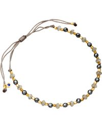 Astley Clarke - Gray 18ct Gold Vermeil Grey Cord Bracelet - Lyst
