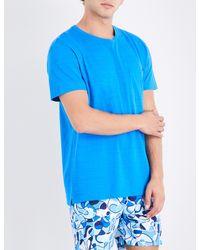 Orlebar Brown - Blue Sammy Ii Patch-pocket Cotton T-shirt for Men - Lyst