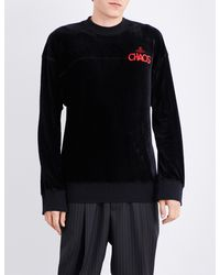 Vivienne Westwood Anglomania - Black Chaos Cotton-jersey Sweatshirt for Men - Lyst