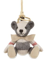 Burberry - Multicolor Thomas Bear Check Cashmere Keyring - Lyst