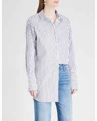 Kitri - Blue Herrera Striped Cotton Shirt - Lyst