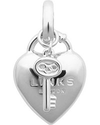 Links of London - Metallic Heart Padlock Sterling Silver Charm - For Women - Lyst