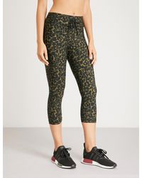 333e58aafab272 The Upside Nyc Leopard Camo-print Stretch-jersey leggings in Green ...