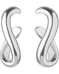 Links of London - Metallic Essentials Infinity Sterling Silver Earrings - Lyst