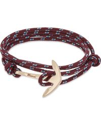 Miansai - Multicolor Anchor Rose Gold-plated Wrap Bracelet for Men - Lyst