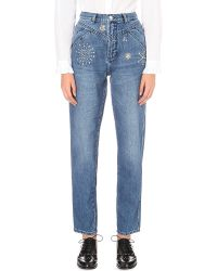 Claudie Pierlot - Blue Patsy Regular-fit High-rise Jeans - Lyst