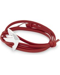 Miansai | Red Half-cuff Anchor Leather Bracelet for Men | Lyst