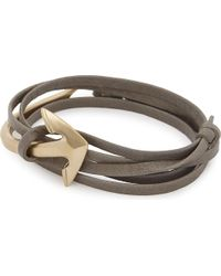 Miansai | Multicolor Anchor Leather Wrap Bracelet | Lyst