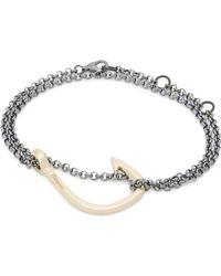 Miansai | Metallic Gold-plated Hook Bracelet | Lyst