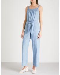 MiH Jeans - Blue Kensley Wide-leg Denim Jumpsuit - Lyst