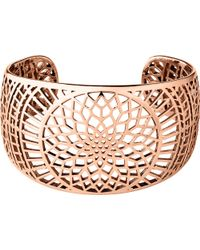 Links of London - Pink Timeless Rose Gold Cuff - Lyst