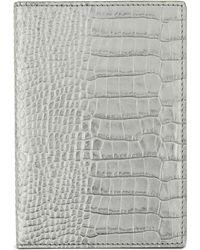 Smythson - Metallic Mara Leather Passport Cover - Lyst