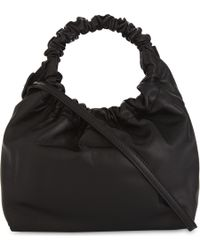 The Row - Black Double Circle Small Leather Tote Bag - Lyst