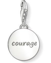 Thomas Sabo | Metallic Charm Club Silver Courage Charm Pendant | Lyst