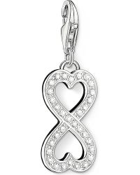 Thomas Sabo - Metallic Charm Club Silver And Zirconia Infinity Heart Charm - Lyst