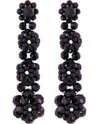 Simone Rocha - Black Beaded Earrings - Lyst