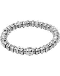 Links of London - Metallic Sweetheart Sterling Silver And White Topaz Bracelet - Lyst